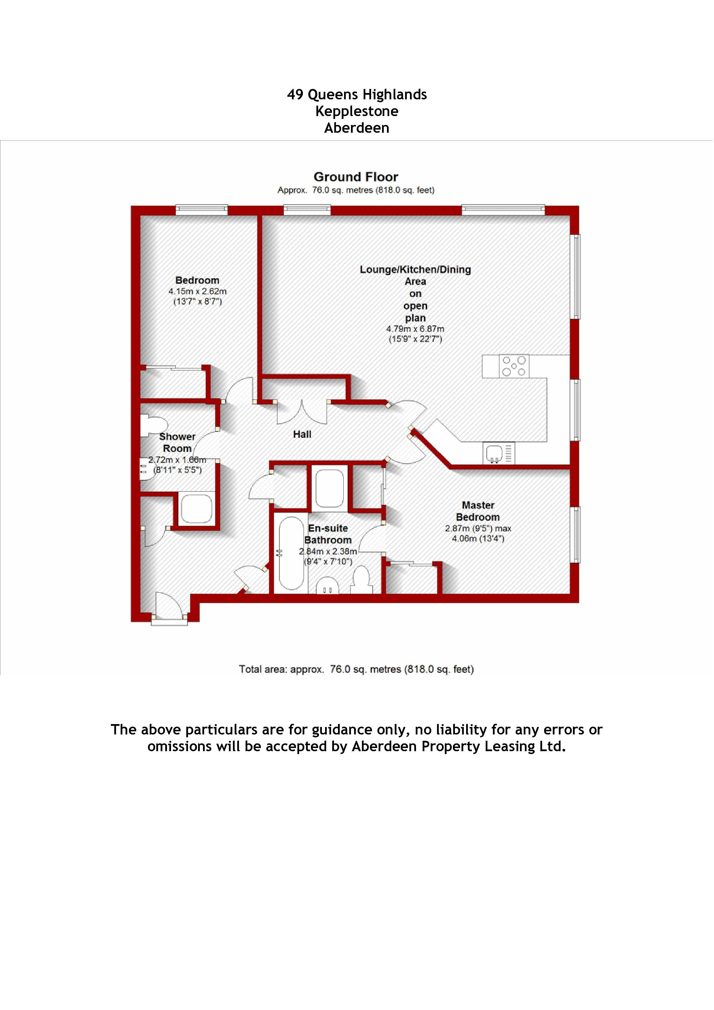Queens Highlands, Kepplestone, AB15 floorplan